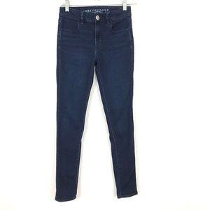 AEO Hi-Rise Jegging skinny jeans dark denim ankle